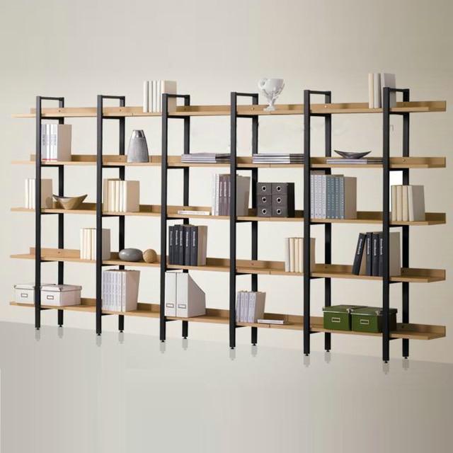 Moderne ijzer hout clapboard plank display plank display rack ...