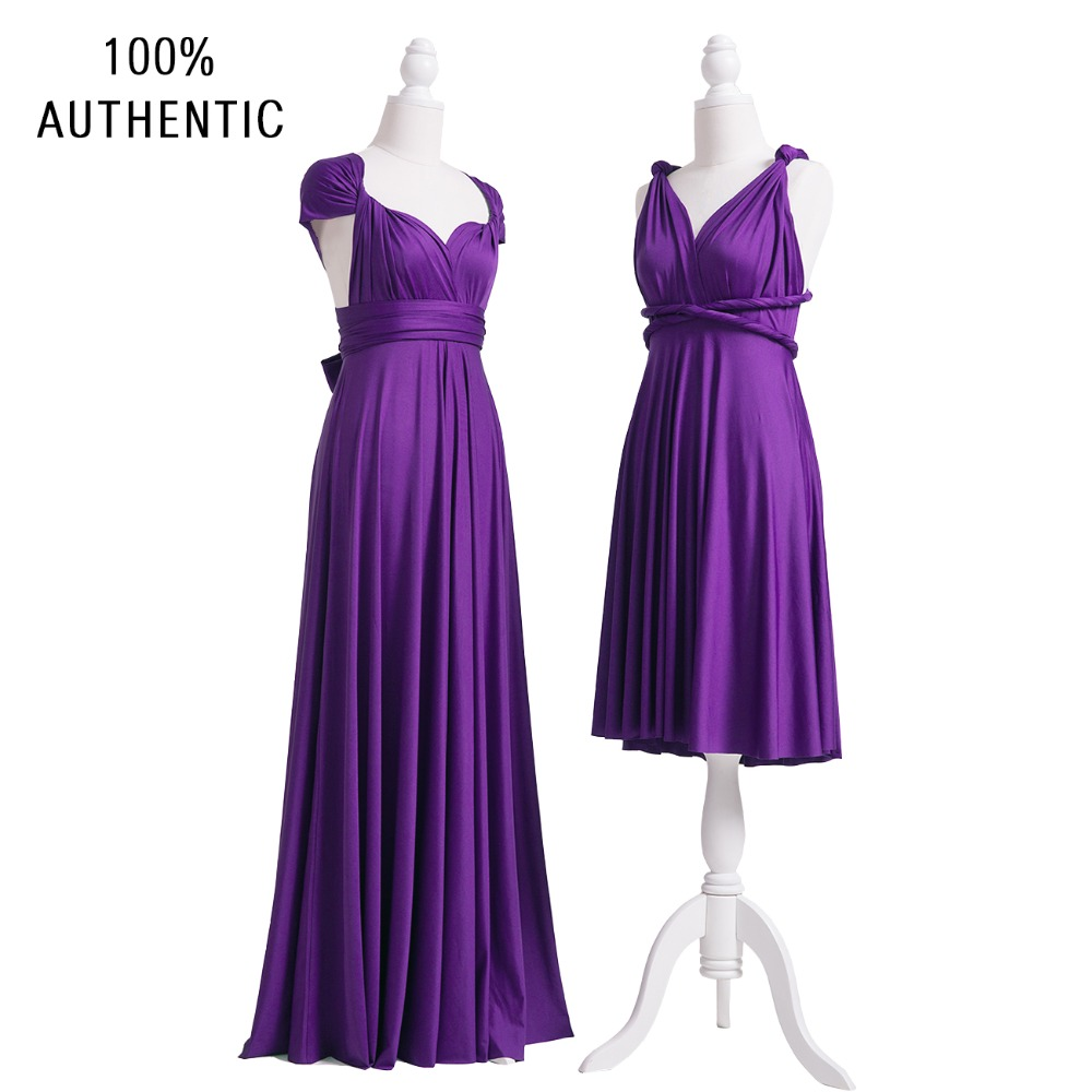 Purple Bridesmaid Dress Grape Multi Way Long Infinity Maxi Wrap With Cap Sleeves Styles In Dresses From Weddings