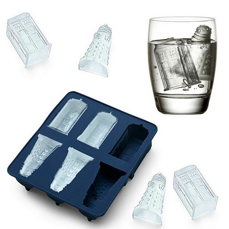 New Doctor Who Cocktails Silicone Ice Cube Tray Candy Chocolate Baking Molds diy Bar Party Drink