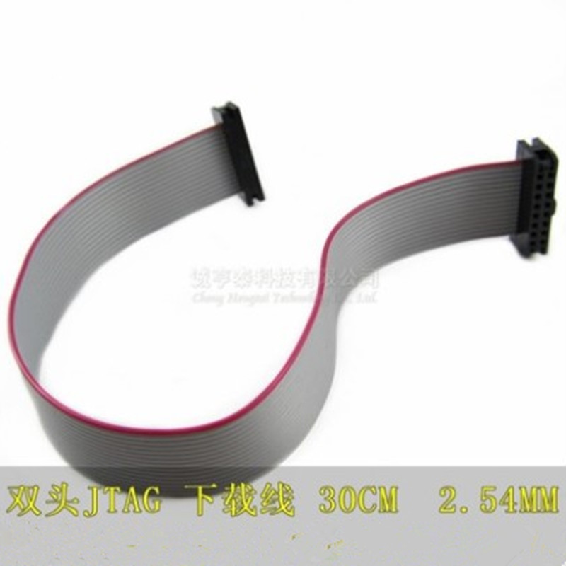 цена на 1pcs/lot FC-16P 2.54mm Pitch JTAG AVR Download Cable Wire Connector Gray Flat Ribbon Data Cable 2x8 pin 16 Pins 30cm