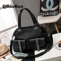 Soft Leather Handbags Women New Pillow Bag 44cm Big Tote Washed Leather Handbags Bolsa Feminina Sac A Main Women's Bags