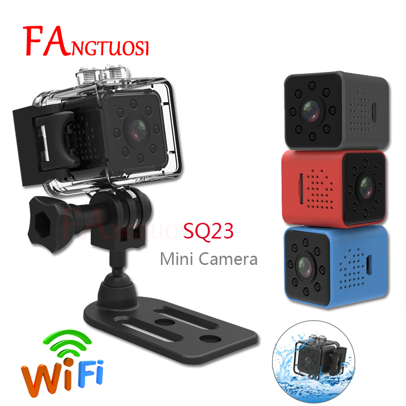 FANGTUOSI SQ23 WIFI Mini Camera Small Cam 1080P Video Sensor Night Vision