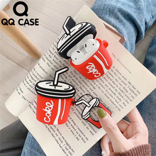 New Cartoon Wireless Bluetooth Earphone Case For Apple AirPods Silicone 3D Charging Headphones Cases For Airpods 1 2 Coke Case