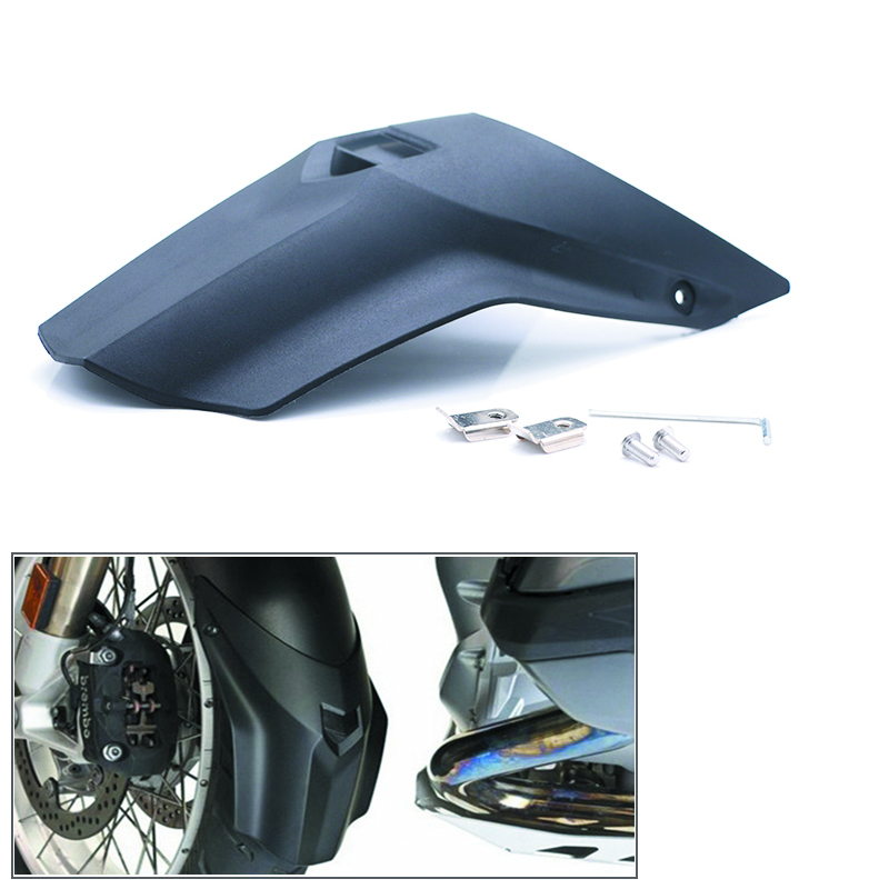 For BMW R1200GS LC 2013-18 R 1200GS ADV 2014-18 Motorcycle Black ABS Front Fender Beak Extension Fender Extender Wheel Cover