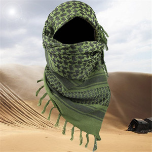 "Arabic Scarf Cotton Military Shemagh Keffiyeh 34""x34"" Tactical Arab Scarf Shawl Neck Cover Head Wrap For Men Women Hiking Scarve(China)"
