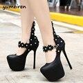 Лодыжки ремень каблуки вечерние туфли на платформе каблуки свадебные туфли белые цветок насосы сексуальные туфли на каблуках для женщин обувь каблуки X74