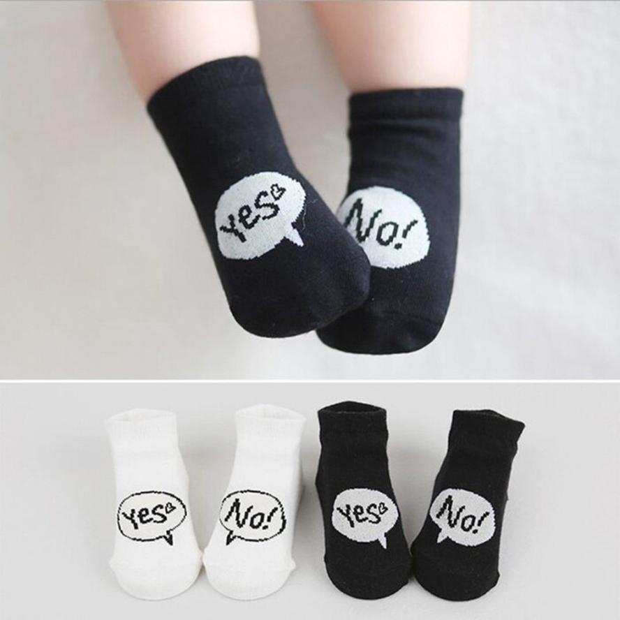 2017 Baby Infant Socks Newborn Cotton Boys Girls Cute Letter Toddler Anti-slip Socks meia infantil calcetines BTTF
