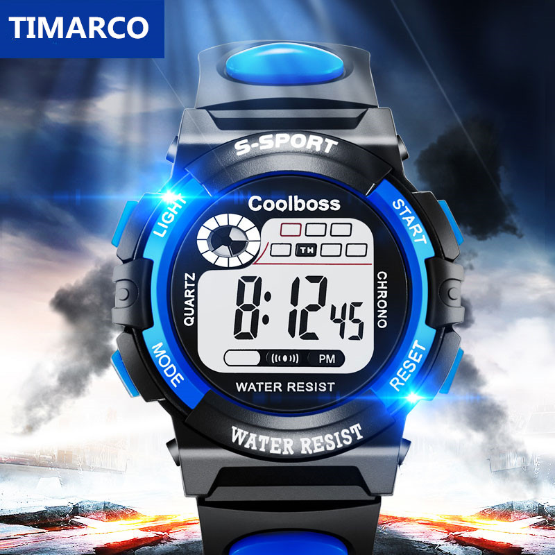 2019 Children LED Digital Sport Watches Children Boy Clock Relogio Leisure Male Baby Enfant Ceasuri Waterproof Military Hodinky