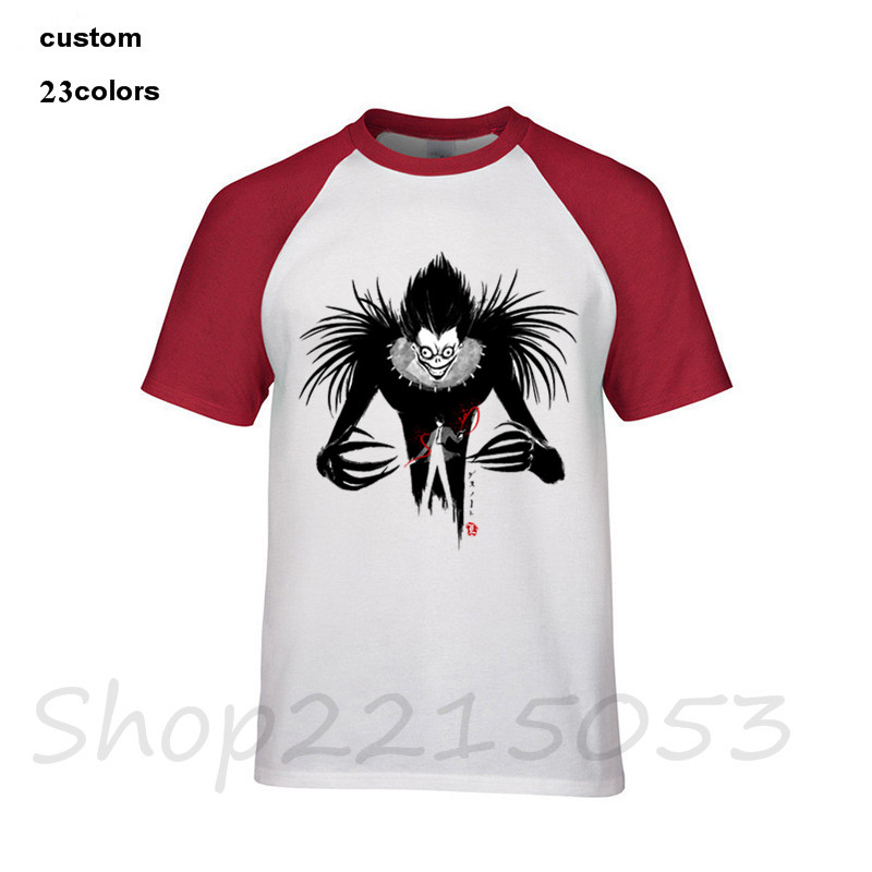 Tops & Tees 2018 Funny Shinigami Death Note Men T-shirts Black White Cotton Costume Male Tshirt Streetwear Bendy And The Ink Machine T Shirt Fine Quality
