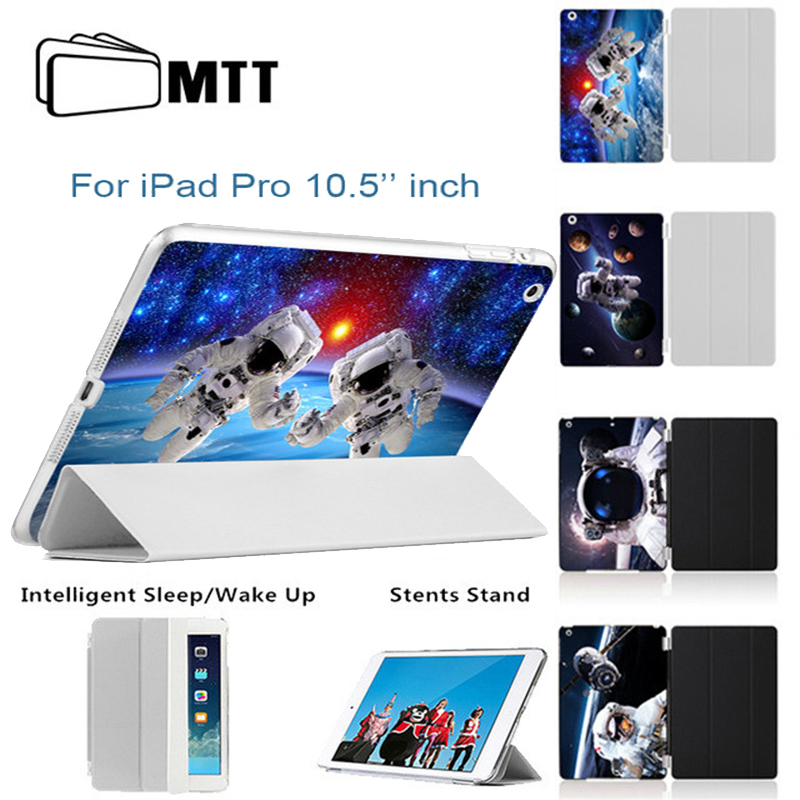 MTT Back Printing Spaceship Pattern Protective Cases For Apple iPad Pro 10.5 Case Smart Cover With Stand Flip PU Leather
