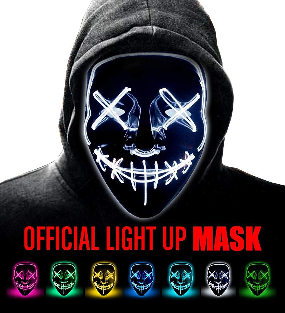 Neue Jahr Cosplay LED Licht Maske Up Von Die Purge Wahl Jahr Große für Festival Cosplay Halloween Kostüm Party Masken