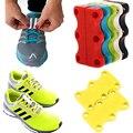 1 Par Tênis Cadarços Fechamento Fivelas Fivelas Magnética Magnético Não-Tie Cadarço Running Shoes Fivelas Sapatos Casuais Magnético