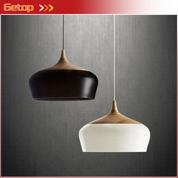 Best Price New Creative Bar Pendant Lights Retro Bedroom Single head Wood Vintage Lights hazelnut Lights