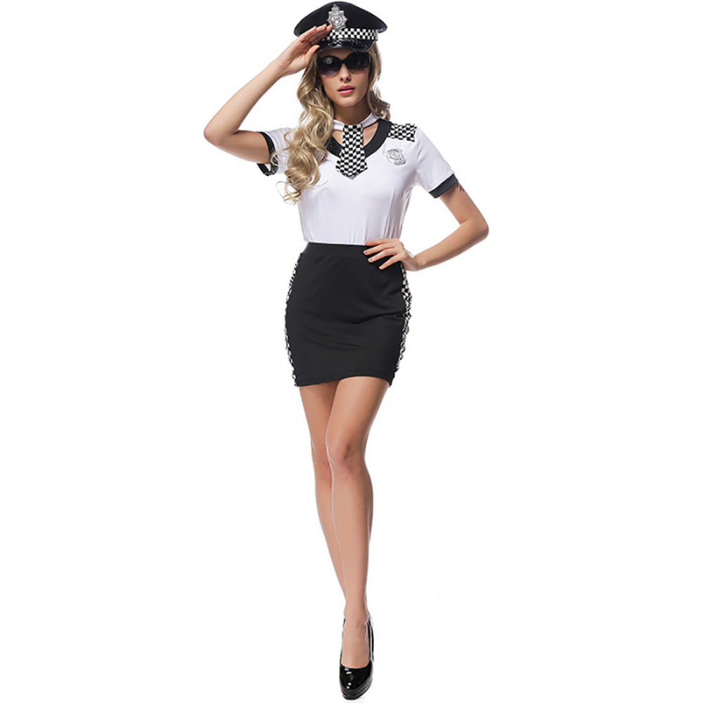 Popular girl police costume buy cheap girl police costume lots from