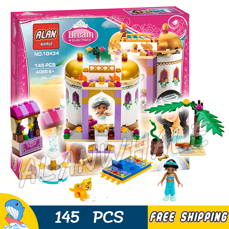 145pcs New Cute 10434 Princess Series Jasmine's Exotic Palace Building Brick Blocks Girls Friends Toys Compatible With lego new bela friends series girls princess jasmine exotic palacepanorama minifigures building blocks girl toys