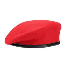 Unisex wojskowy żołnierz armii kapelusz mężczyzna kobiet wełny Beret żołnierzy sił specjalnych obóz treningowy kapelusze płaskie jednolite Cap Boina tanie tanio Berety Wełna Dla dorosłych Na co dzień Stałe Wool Beret hats for men gorras para hombre Summer Autumn Winter Spring