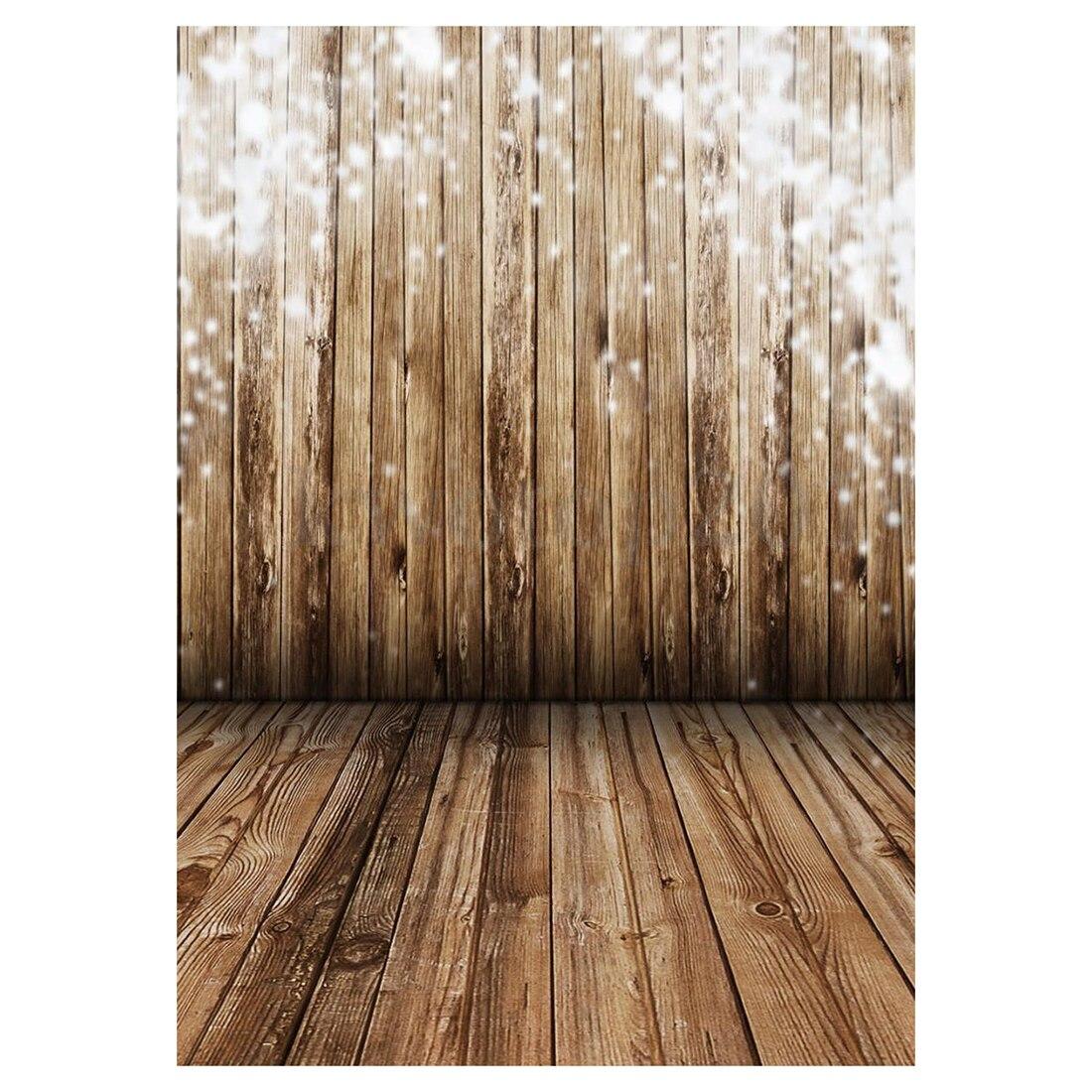 3X5FT Wood Wall Floor Vinyl Photography Backdrop Photo Background Studio Props