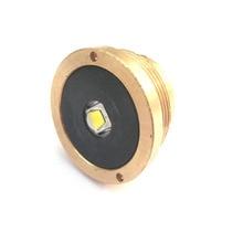 Чистая латунь База 1xcree XM-L2 U3 1800 Люмен светодиодный вклинивание для C8 фонарик