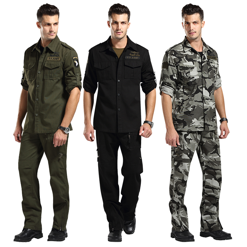 USA air force Clothing 101 set male camouflage set Field suits military jacket and pants work wear suit