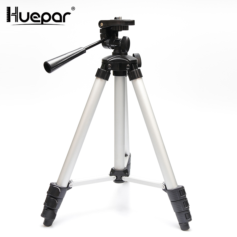 Huepar Adjustable Laser Level Tripod Rod Leveling Bubble 1/4 Inch Travel Camera Tripod with Extension Height Line Level Tools drill buddy cordless dust collector with laser level and bubble vial diy tool new