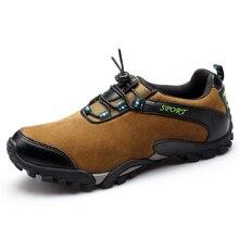 Ботинки трекинговые мужские кожаные осенние Прогулки Кроссовки Водонепроницаемый Mountain обувь мужчины легкая прогулочная обувь мужские уличные сапоги