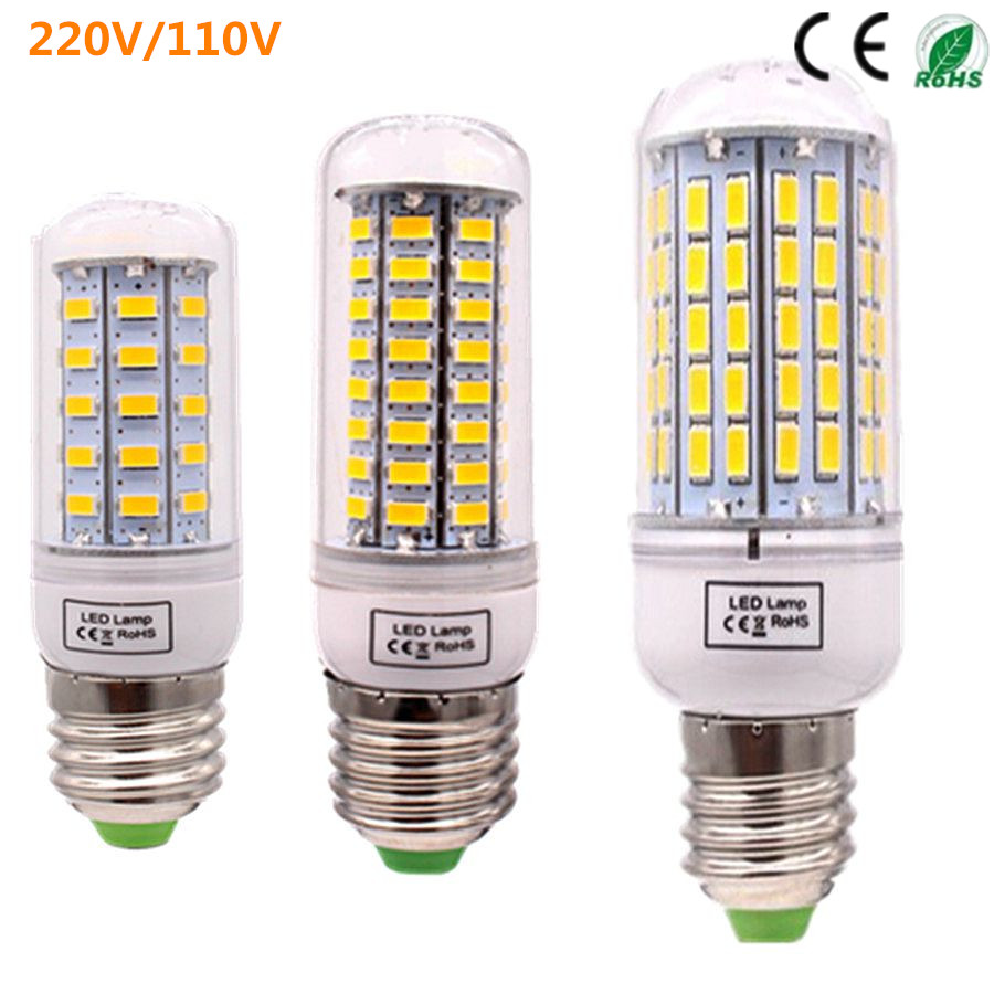bombillas corn bulb e27 smd 5730 lamparas led light 24 72 96leds lampada led lamp e27 220v 110v. Black Bedroom Furniture Sets. Home Design Ideas