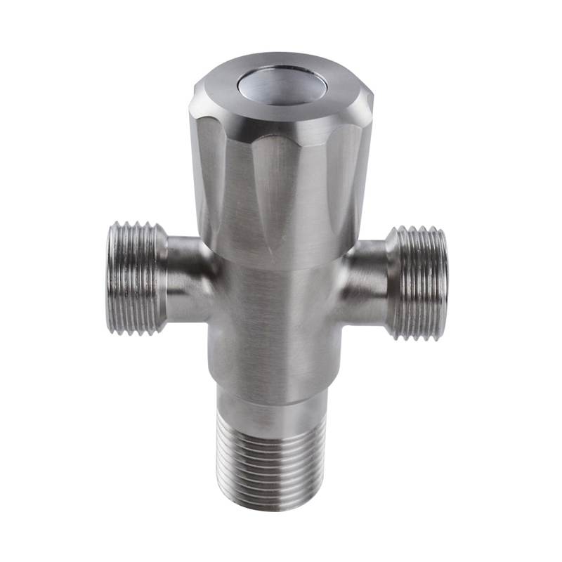 kes sus304 stainless steel quarter turn angle valve 12 inch ips 3 way t valve brushed finish k1152in filling valves from home improvement on