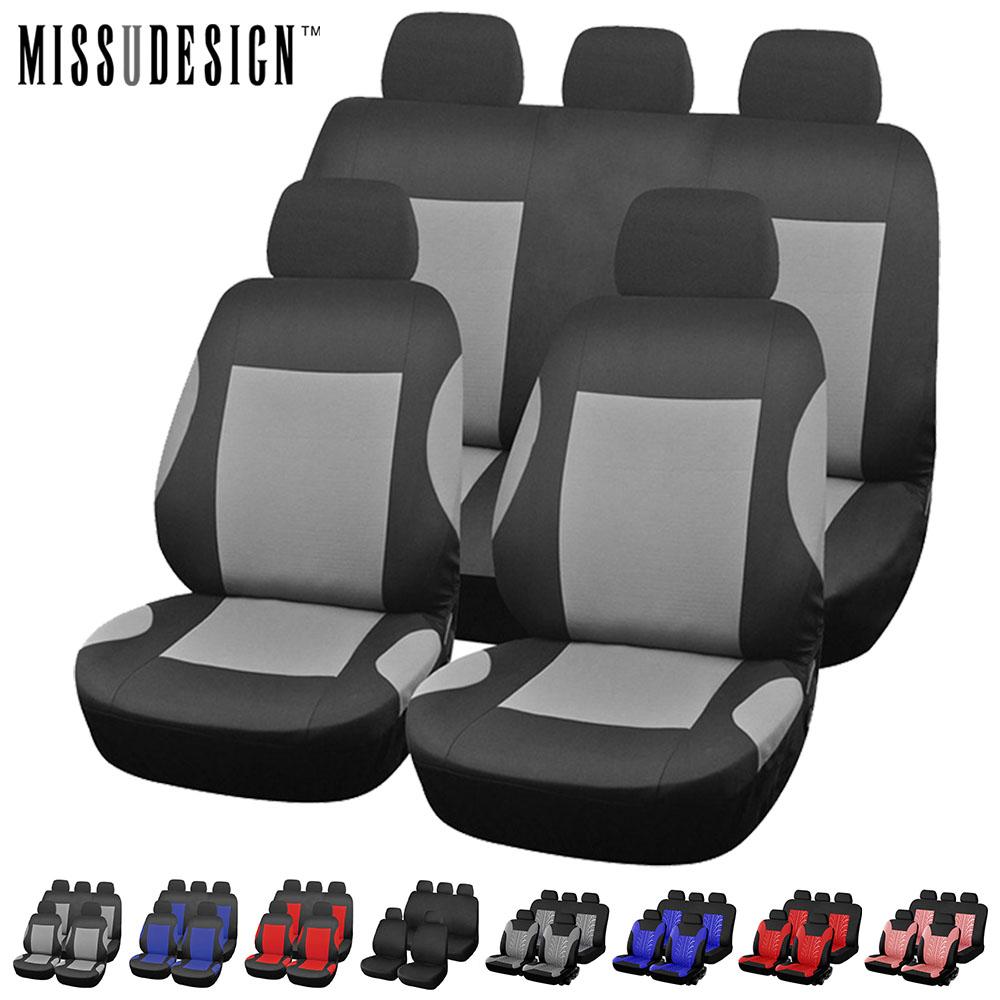 Prix pour Universal Mode le Style ensemble Complet et 2 sièges avant Protecteur De Siège De Voiture Auto Accessoires Intérieurs Automobile Housse de Siège de Voiture