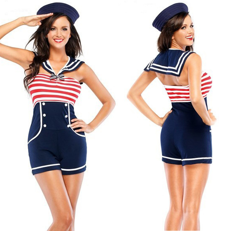 Sexy Ladie Sailor Outfit Erotic Lingerie Bodysuit