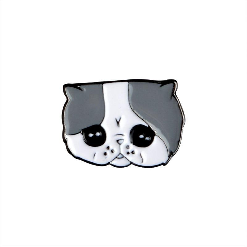 5 PCS / SET Crtani Slatki psi Metalni emajl Pin Životinjski znak - Modni nakit - Foto 5