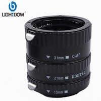 Adaptador de lente de cámara de enfoque automático AF Macro tubo de extensión/anillo de montaje para Canon 1000D 550D 760D 6D 77D 5dII cámaras DSLR