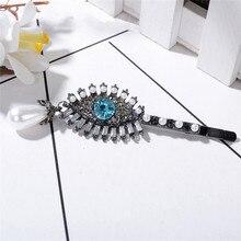Rhinestone Eye Shape Barrettes Women Girls Simulated Pearl Acrylic Beads Long Hair Clips Hairpins Hair Accessories цены