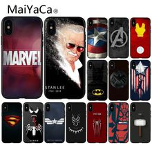MaiYaCa Marvel Comics logo Customer High Quality Phone Case for Apple iPhone 8 7 6 6S Plus X XS MAX 5 5S SE XR Cellphones
