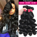 8A Unprocessed Brazilian Virgin Hair Loose Wave 4 Bundles Brazilian Loose Wave Virgin Hair Brazilian Hair Cheap Human Hair Weave