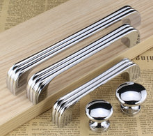 128mm Modern  Kitchen Cabinet Pull Shiny Silver drawer cupboard dresser door handle 5″ chrome furniture handles pulls