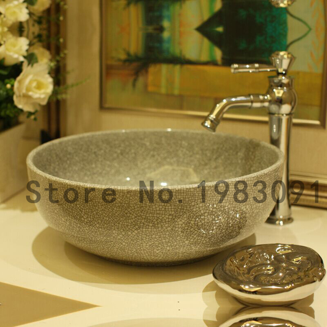 Etonnant Jiangxi Jingdezhen Ceramic Crack Glaze Sink Ceramic Art Basin Home Hotel  Wash Basin