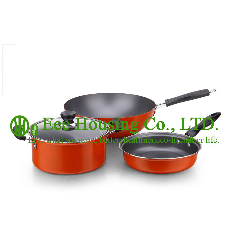 Refined Iron Cooking Cookware Kitchenware Set Free Shipping Manufactuer In China For Sale ,wok Pan Fry Pan,soup Pot Kitchen