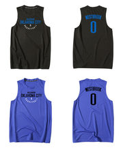 Men Black Blue Cheap Print Jersey 0 Russell Westbrook Top Quality Uniforms  Sports Basketball Jerseys Breathable Training Shirts e23bcda12