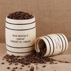 Image 3 - Coffee Beans 0ak Barrel Storage  Airtight Wooden Container For Coffee Beans or Grounds  Kitchen Box