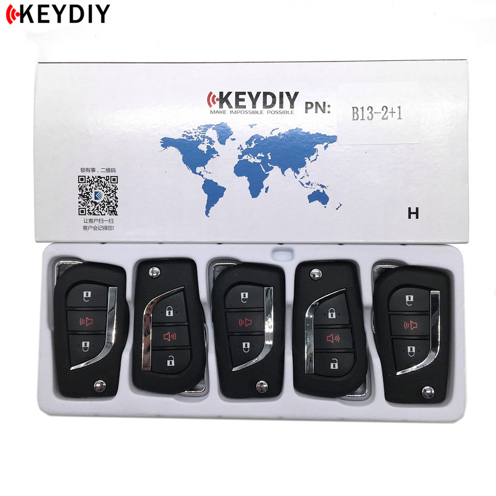KEYDIYl 10pcs KD B13-2+1 Car <font><b>Key</b></font> For KD900/KD MINI/KD-X2 <font><b>Key</b></font> <font><b>Programmer</b></font> B Series <font><b>Remote</b></font> Control B13 image