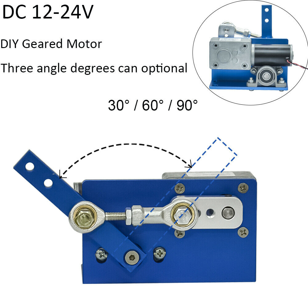 24V 12V DC Motor For DIY Design 30 60 90 Degrees Automatic Wobble Handmade Assembly Reciprocating