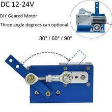24 فولت 12 فولت موتور تيار مباشر لديي تصميم 30 60 90 درجة التلقائي تمايل اليدوية الجمعية الترددية الكهربائية لتقوم بها بنفسك موتور منشئ
