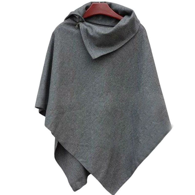 LERFEY Jesen Wimnter Žene Oversized Cape šal Batwing nepravilne - Ženska odjeća - Foto 2
