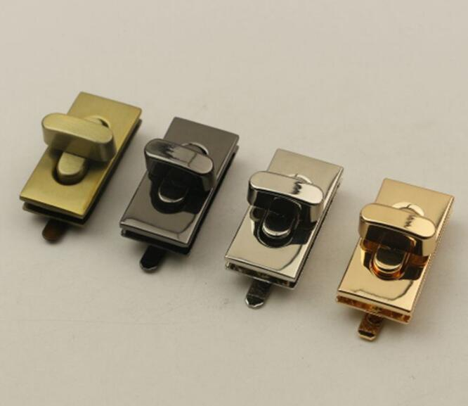 (10 pieces/lot) Factory wholesale bags handbags metal rectangular twist lock decorative buckle hardware accessories(10 pieces/lot) Factory wholesale bags handbags metal rectangular twist lock decorative buckle hardware accessories
