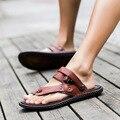 EE.UU. 6-11 de Los Hombres Causales Zapatos t-strap Flip Flops Calzado de Playa Sandalias de Verano Diapositivas