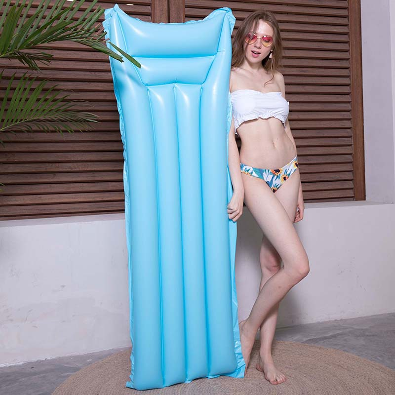 Adult Inflatable Mattress Water Mat Floating Row Swimming Ring Floating Bed Swimming Pool Pad Water Sleeping Board