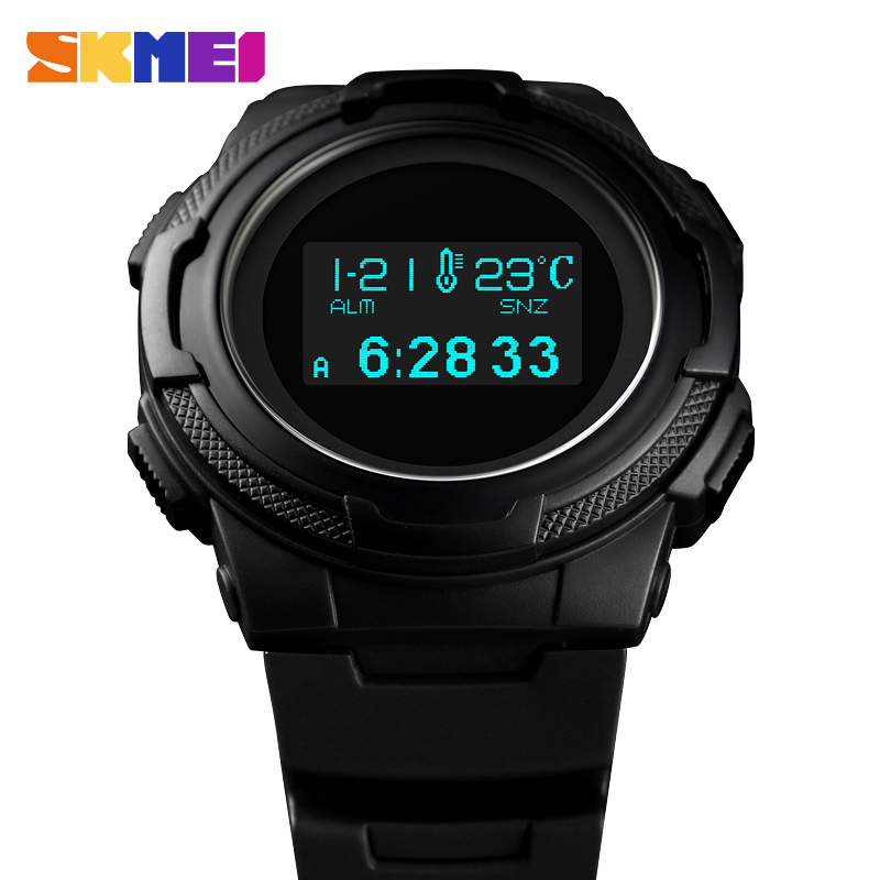 Men Sport Digital Watch Waterproof Calorie Pedometer Sports Wristwatches Luxury Compass Thermometer Electronic Watches For Man