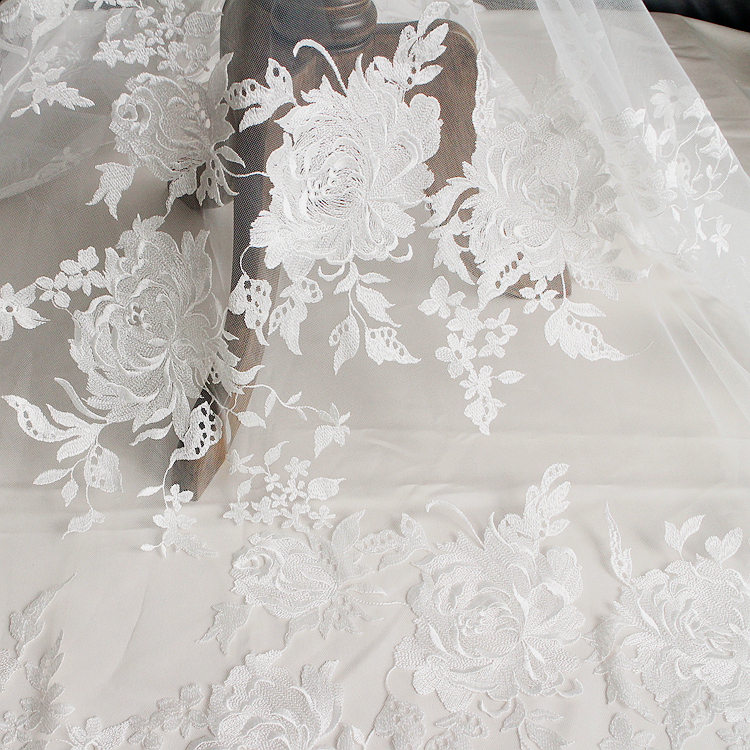 Buy eyelash full lace wedding dress for Wedding dress fabric stores