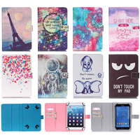 Universal 10 Inch Tablet Case Print Pattern Wallet Magnetic Buckle Flip Stand Protective Cover Case For