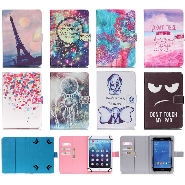Universal 10 Inch Tablet Case Print Pattern Wallet Magnetic Buckle Flip Stand Protective Cover Case For Android iPad Asus Tablet